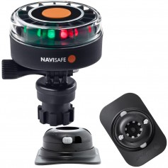 Navisafe Navilight 2NM Tricolor w-Navimount Base RIB Mount - Black