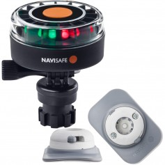 Navisafe Navilight 2NM Tricolor w-Navimount Base RIB Mount - White
