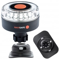 Navisafe Navilight 360 2NM w-Navibolt Base RIB Mount - Black