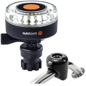 Navisafe Navilight 360 2NM White w-Navimount Base Rail Mount - Black