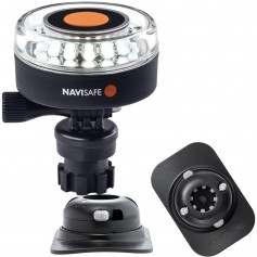 Navisafe Navilight 360 2NM White w-Navimount Base RIB Mount - Black