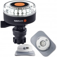 Navisafe Navilight 360 2NM White w-Navimount Base RIB Mount - White