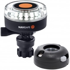 Navisafe Navilight 360 2NM White w-Navimount Base Horizontal Mount - Black