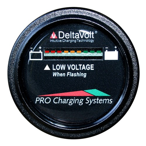 Dual Pro Battery Fuel Gauge - DeltaView Link Compatible - 12V System -1-12V Battery- 2-6V Batteries-