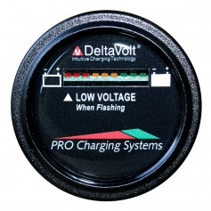 Dual Pro Battery Fuel Gauge - DeltaView Link Compatible - 72V System -6-12V Batteries- 12-6V Batteries- 9-8V Batteries-