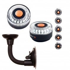 Navisafe Portable Navilight 360 2NM - White w-Bendable Suction Cup Mount