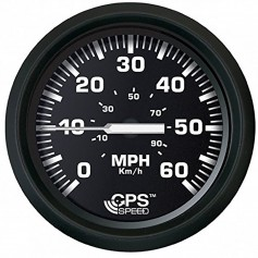 Faria Euro Black 4- Speedometer 60MPH -GPS