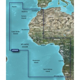 Garmin BlueChart g2 Vision HD - VAF003R - Western Africa - microSD-SD
