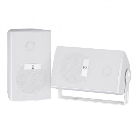 Poly-Planar Compnent Box Speakers - -Pair- White