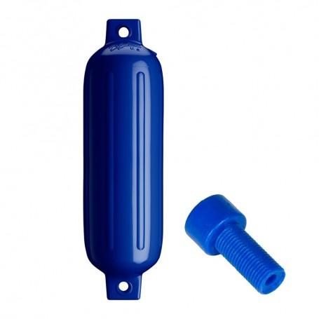 Polyform G-3 Twin Eye Fender 5-5- x 19- - Cobalt Blue w-Air Adapter