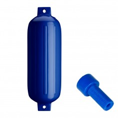 Polyform G-5 Twin Eye Fender 8-8- x 26-8- - Cobalt Blue w-Air Adapter