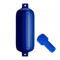 Polyform G-6 Twin Eye Fender 11- x 30- - Cobalt Blue w-Air Adapter