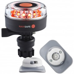 Navisafe Navilight All RED 360 2NM w-Navimount Base RIB Mount - White