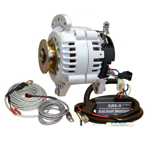 Balmar 60 Series Alternator - Saddle Mount-Dual Foot- Charging Kit - 70A - 12V