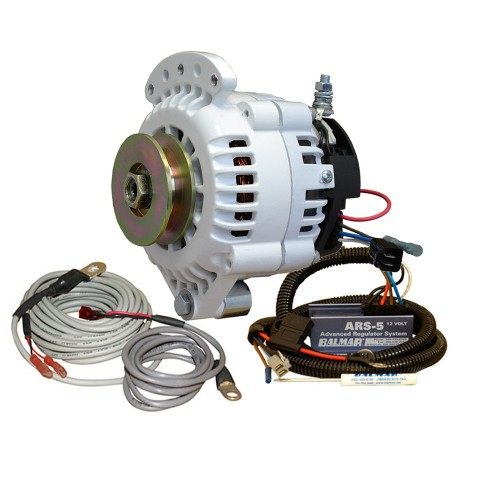 Balmar 621 Series Alternator - Spindle Mount-Single Foot- Charging Kit - 100A - 12V