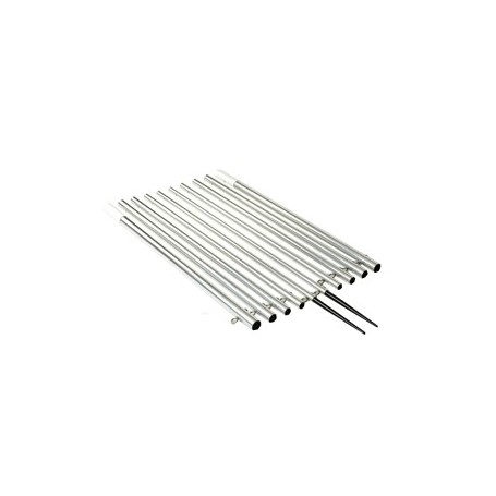 Lee-s 18-5- Bright Silver Outrigger Poles for 1 3-4- Bases