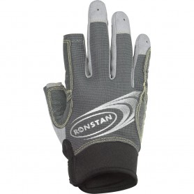 Ronstan Sticky Race Glove - 3-Finger - Grey - XXS