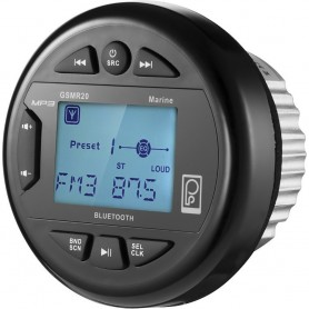 Poly-Planar GSMR20 AM-FM Bluetooth Gauge Series Marine Radio