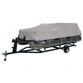 Dallas Manufacturing Co- Heavy-Duty 300 D Polyester Pontoon Cover - Fits 17 - 20 w-Beam Width to 102-