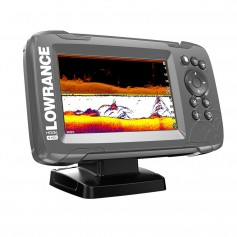 Lowrance HOOK-5 5- Chartplotter-Fishfinder SplitShot Transom Mount Transducer w-Built-In US Inland Charts