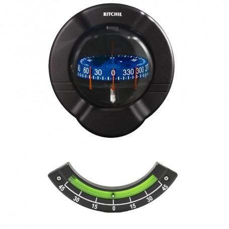 Ritchie SR-2 Venture Sail Boat Compass w-Clinometer - Bulkhead Mount - Black