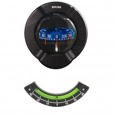 Ritchie SR-2 Venture Sail Boat Compass w-Clinometer - Bulkhead Mount - Black