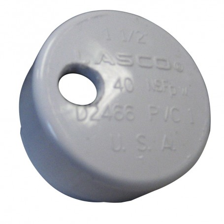 Lee-s PVC Drain Cap f-Heavy Rod Holders 1-4- NPT