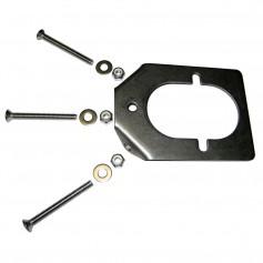 Lee-s Stainless Steel Backing Plate f-Medium Rod Holders
