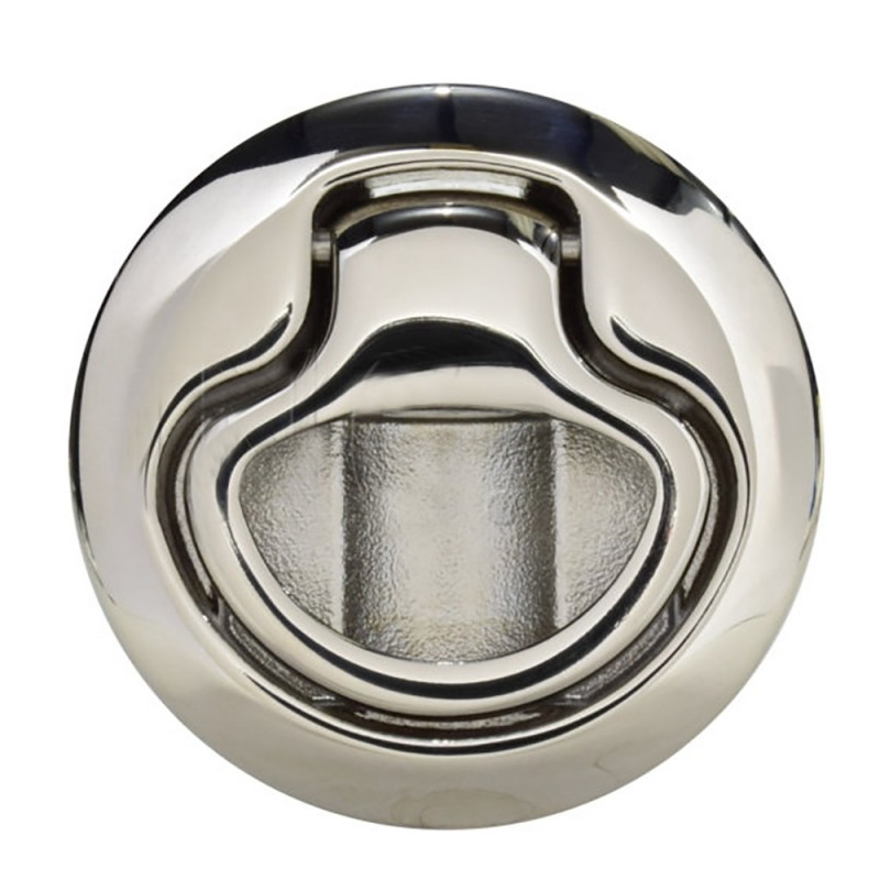 Southco Flush Pull Latch - Pull To Open - Non-Locking Polished Stainless Steel