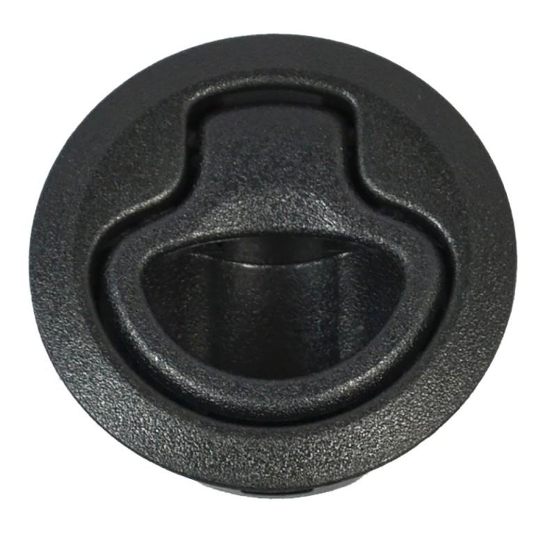 Southco Flush Pull Latch - Pull To Open - Non-Locking Black Plastic
