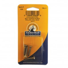 Handi-Man Phillips Self Tapping Oval Screw Stainles Steel - -10 x 1-