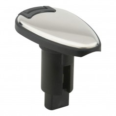 Attwood LightArmor Plug-In Base - 3 Pin - Stainless Steel - Teardrop