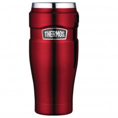 Thermos Stainless King Vacuum Insulated Travel Tumbler - 16 oz- - Stainless Steel-Cranberry