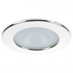 Quick Kai XP Downlight LED - 4W- IP66- Spring Mounted - Round White Bezel- Round Warm White Light