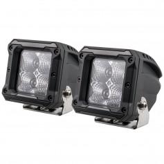 HEISE 4 LED Cube Light - Flood - 3- - 2 Pack