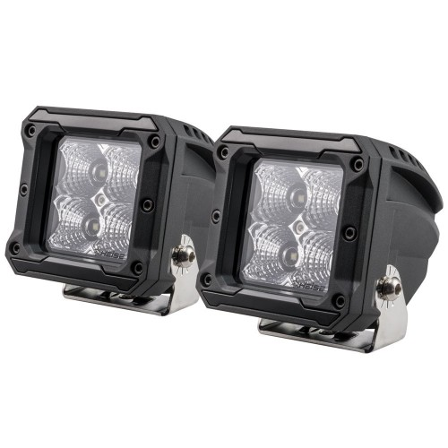 HEISE 4 LED Cube Light - Flood - 3- - 2 Pack