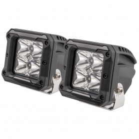 HEISE 4 LED Cube Light w-Harness - Spot Beam- 3- - 2 Pack