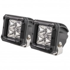 HEISE 4 LED Cube Light w-Harness - Spot Beam- 3- - 2 Pack