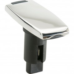 Attwood LightArmor Plug-In Base - 2 Pin - Stainless Steel - Rectangle