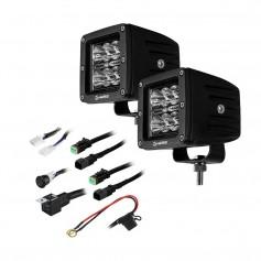 HEISE 6 LED Cube Light - Spot Beam - 3- - 2 Pack
