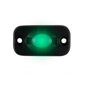 HEISE Auxiliary Accent Lighting Pod - 1-5- x 3- - Black-Green
