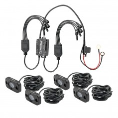 HEISE RGB Accent Lighting Kit - 4 Pack