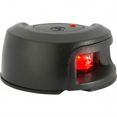 Attwood LightArmor Deck Mount Navigation Light - Black Composite - Port -red- - 2NM