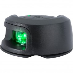 Attwood LightArmor Deck Mount Navigation Light - Black Composite - Starboard -green- - 2NM
