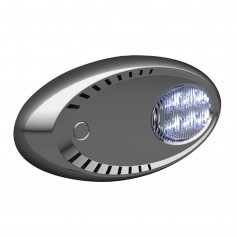 Attwood LED Docking Lights - Stainless Steel - White LED - Pair