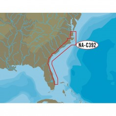 C-MAP NT- NA-C392 - ICW- Norfolk to West Palm - FP-Card Format