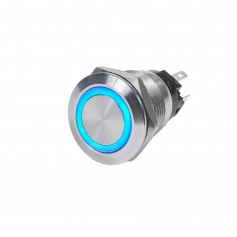 Blue Sea 4161 SS Push Button Switch - Off--On- - Blue - 10A