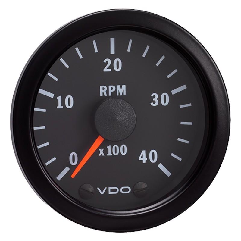 VDO Vision Black 4-000 RPM Tach 2-1-16- - 12VDC