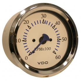 VDO Allentare 4-000 RPM Tachometer Gauge - 85mm - White