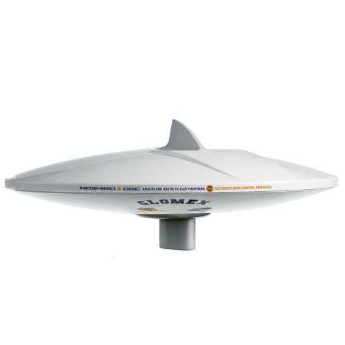 Glomex DVB-T2 TV Full HD 14- Marine Omnidirectional Antenna - w-Automatic Gain Control